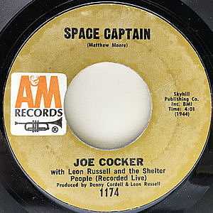 レコード画像:JOE COCKER / LEON RUSSELL / SHELTER PEOPLE / Space Captain / The Letter